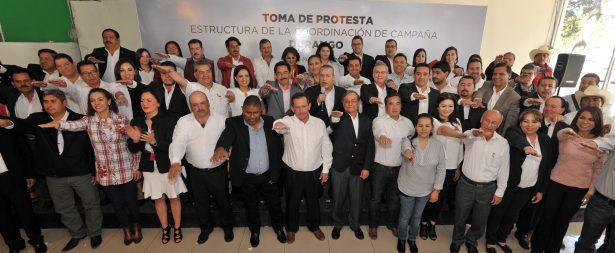 Protesta Coordinación de Campaña de Meade