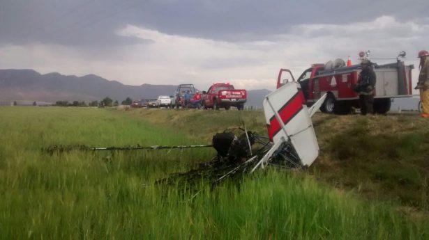 Se desploma ultraligero en poblado de Durango