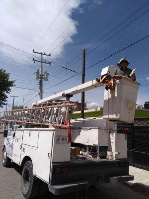 Solucionan problema de falta de alumbrado público en Canatlán