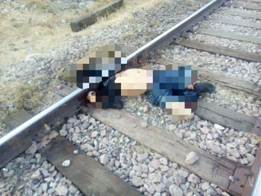 Mueren dos hombresarrollados por el tren