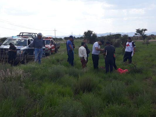 Volcadura deja 2 muertos en Pánuco de Coronado