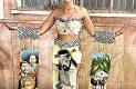 CUENCAMÉ, Dgo. (OEM).- El traje típico diseñado y portado por Nancy Vanessa Alonso  Castañeda obtuvo el primer lugar en concurso.
