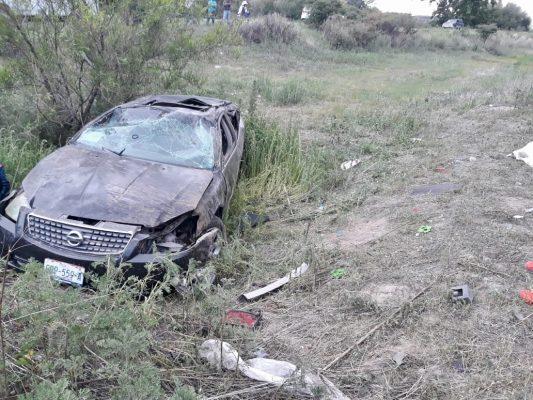 Muere mujer en accidente carretero