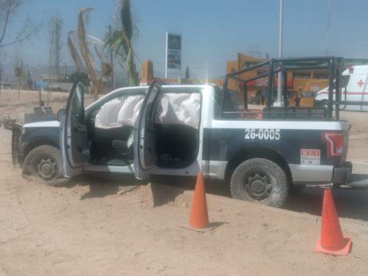 Vehículo se impacta contra patrulla en G.P.