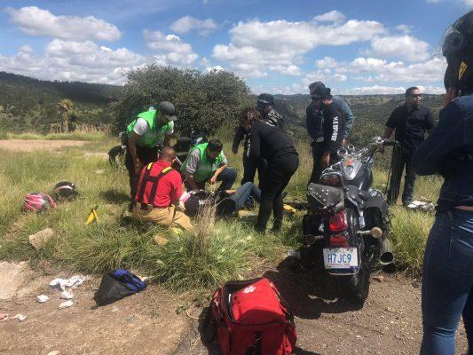 Falleció mujer trasaccidente en moto