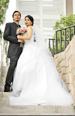 Liliana y Leónlucieron felices el día de su boda