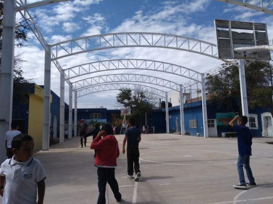 Al 60% la colocación de domo en escuela de Canatlán