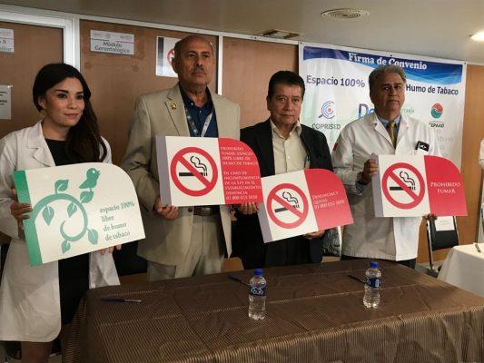 ISSSTE y Coprised a favor de espacios libres de tabaco en Lerdo