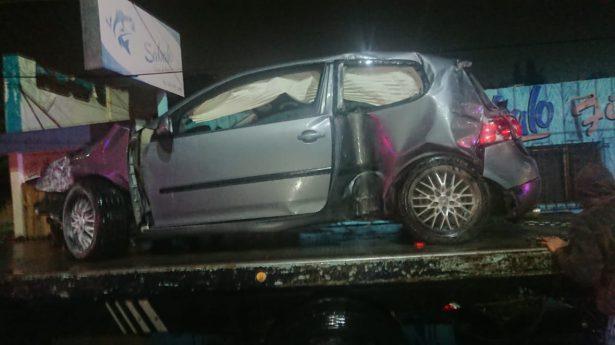 Alcohol y exceso de velocidad provocan accidente