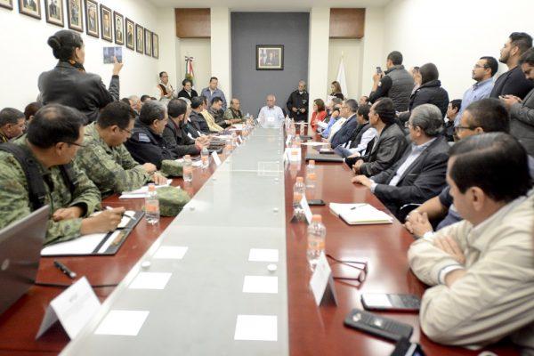 Se reúne Consejo Estatal de Protección Civil