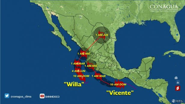 """Huracán """"Willa"""" tocará tierras duranguenses"""