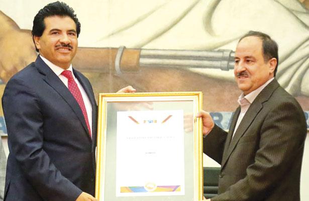 Nombra Gobierno municipal visitante distinguido a embajador de Irán
