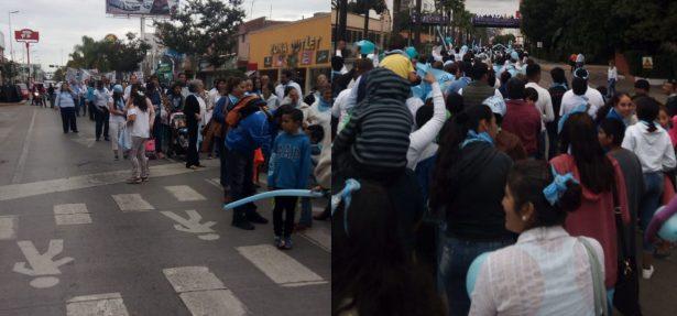 """Duranguenses participan en la marcha """"Salvemos las 2 vidas"""""""