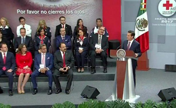 Enrique Peña Nieto llama a donar a la Cruz Roja y a prevenir accidentes