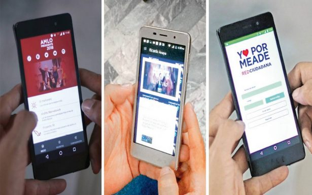 Candidatos a la Presidencia de la República también en aplicaciones para celular