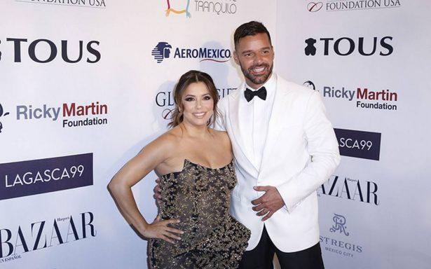 Eva Longoria y Ricky Martin recaudan fondos en México