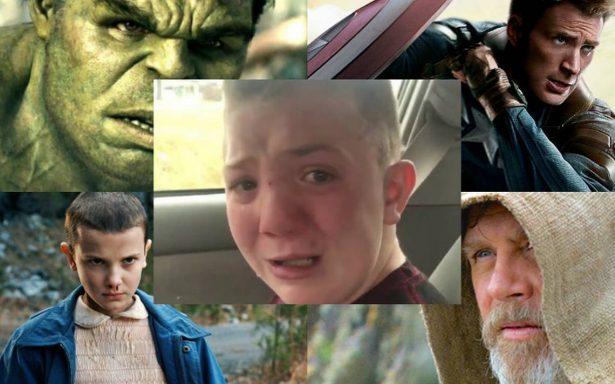 Hulk, Luke Skywalker, Eleven, Capitán América y otros famosos apoyan al pequeño Keaton, víctima de bullying