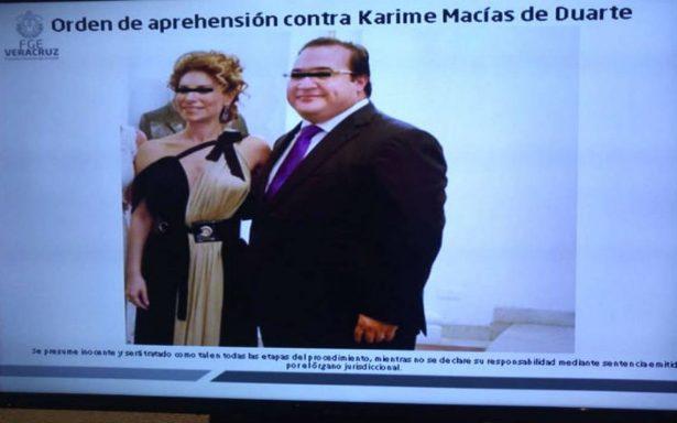 Giran orden de aprehensión y solicitan ficha roja contra Karime Macías