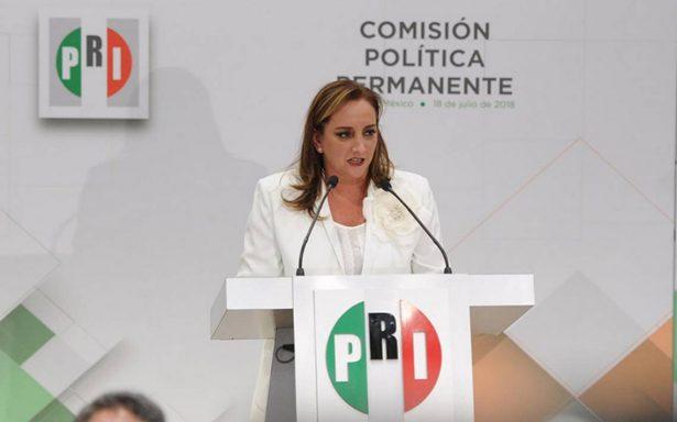 No supimos defender al PRI, acepta Ruiz Massieu al tomar la dirigencia
