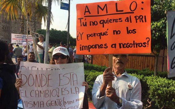 En medio de protestas, AMLO arranca mitin en Jalisco