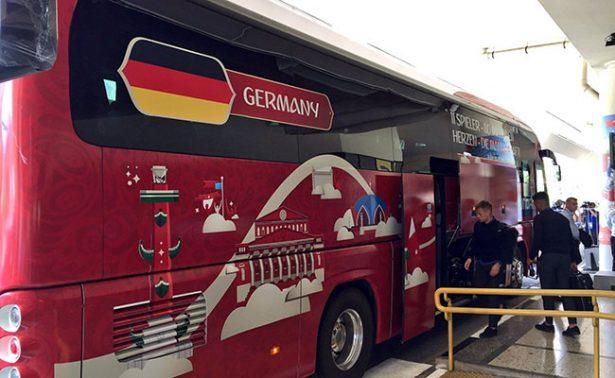La Selección alemana llegaron ayer a Sochi