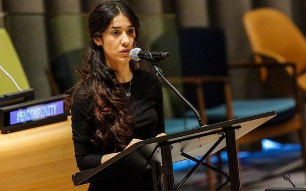 Con emotivo mensaje, Nadia Murad agradece el Nobel de la Paz