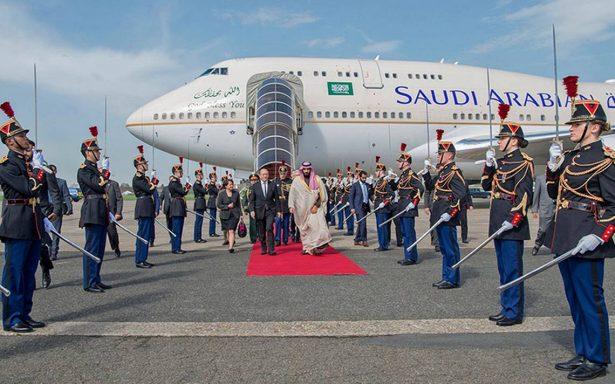 Francia recibe al poderoso príncipe heredero de Arabia Saudita