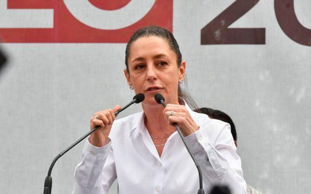 Sheinbaum suspende mitin en Coyoacán ante posibles ataques
