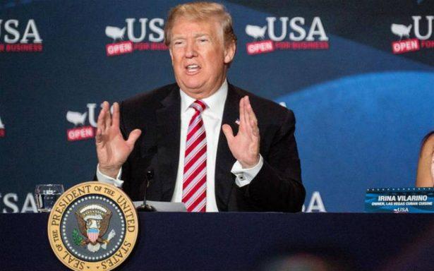 Promete Trump más acciones contra los gobiernos de Cuba y Venezuela