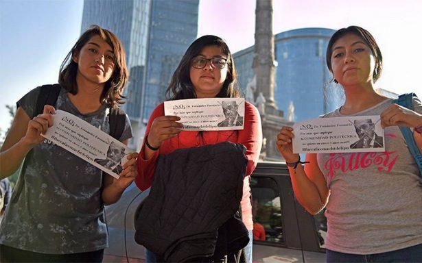 Comunidad politécnica exige salida de Fernández Fassnacht