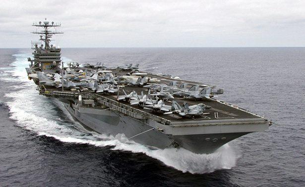 Primer portaaviones de Estados Unidos llegará el 25 de abril a Corea del Sur