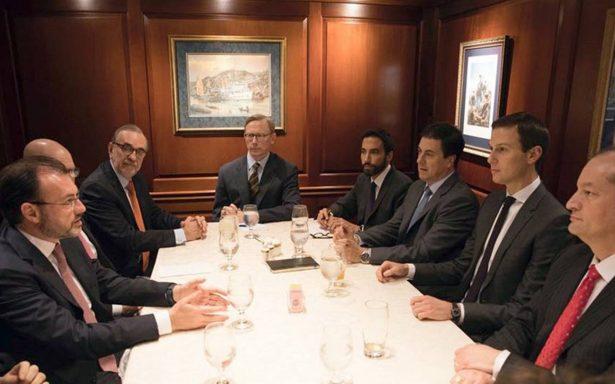 Luis Videgaray se reúne con Jared Kushner en EU para dar seguimiento a relación bilateral