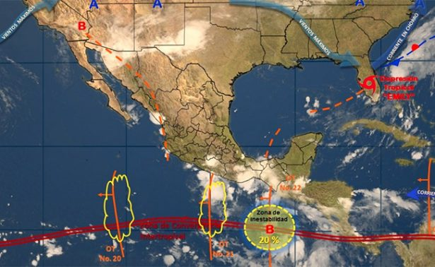 Franklin ocasionará tormentas en Veracruz y torrenciales en Puebla