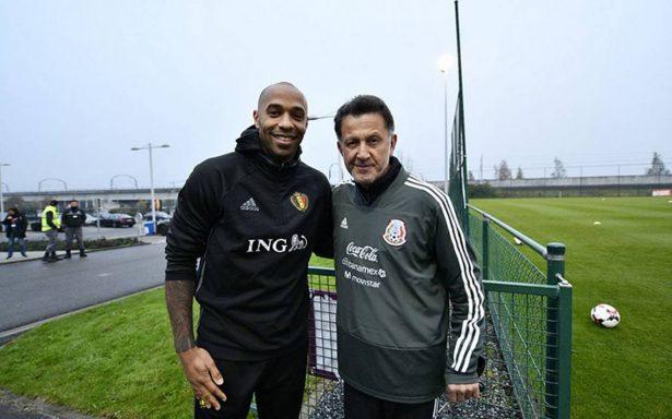 Thierry Henry en la segunda práctica de México