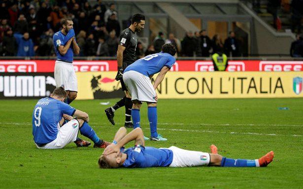 ¡Tragedia! Italia no puede contra Suecia y está fuera del Mundial