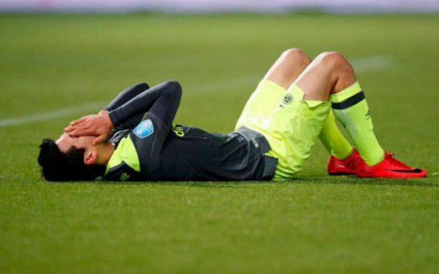¡Alarma! Hirving Lozano se lesiona en juego del PSV
