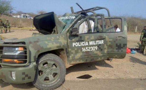 Choca unidad del Ejército en Sinaloa y mueren 2 militares