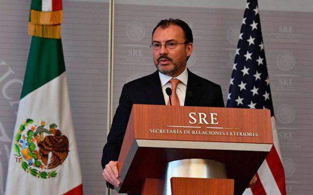 Caravana de inmigrantes no se dispersó por amenazas de Trump hacia México: Videgaray