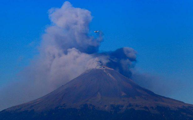 El Popocatépetl registra la actividad eruptiva más grande desde 2013