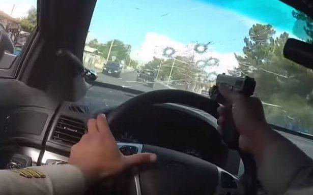 [Video] Como en película de acción, policía de Las Vegas protagoniza tiroteo y persecución