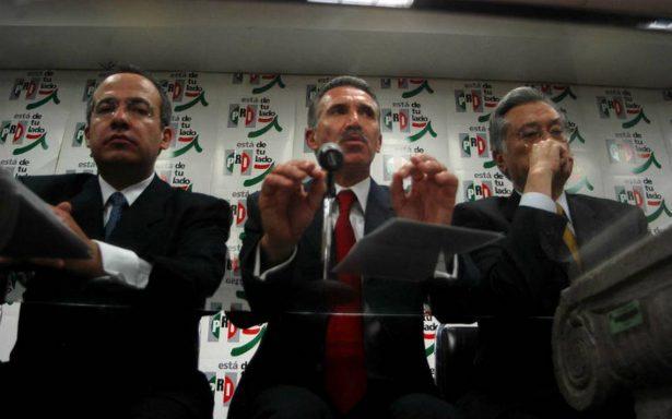 Yo gané, si tiene esas actas que las presente, responde Calderón a Madrazo