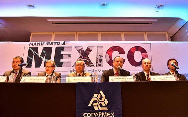 Coparmex convoca a candidatos presidenciales a plantear propuestas concretas