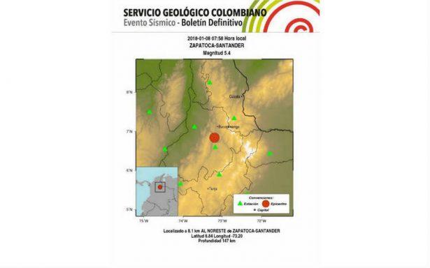 Sismo de magnitud 5.4 genera pánico en Colombia