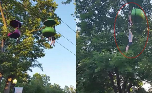 [Videos] Niña de 14 años cae durante vuelta en juego de Six Flags