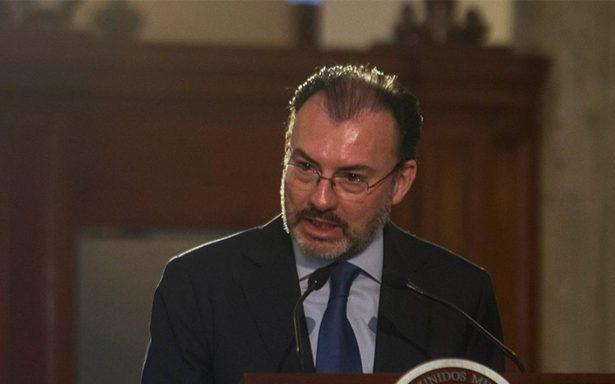 Mensaje de Peña Nieto no afectó las negociaciones del TLCAN: Luis Videgaray