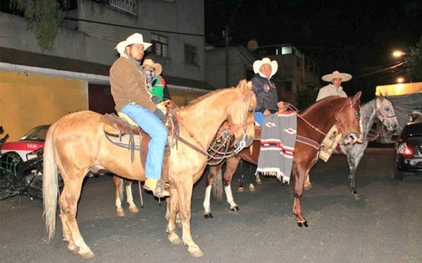 Peregrinación a caballo llega a la Basílica de Guadalupe