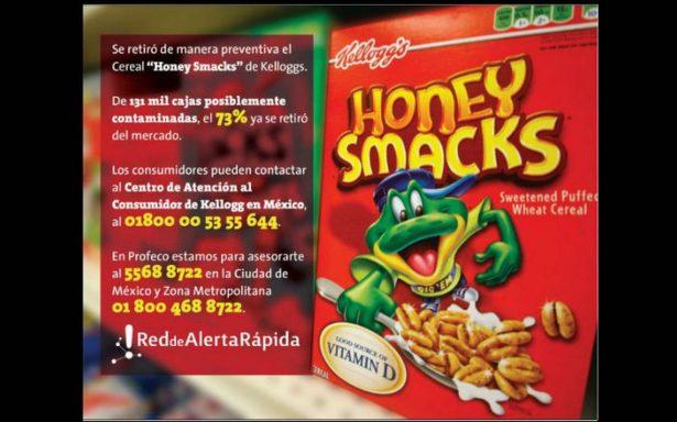 Retiran del mercado cereal con salmonela