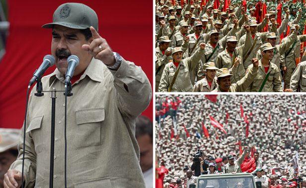 """Militares prometen """"lealtad"""" a Maduro a dos días de marcha opositora"""