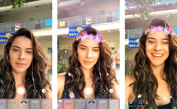 Ahora Instagram le copia a Snapchat con sus filtros de cámara