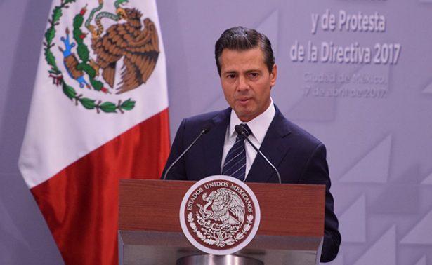 Mi gobierno aspira a llegar a 20 millonesde buenos empleos en 2018: Peña Nieto